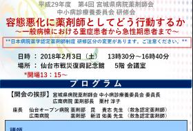 第4回宮城県病院薬剤師会 中小病診療養委員会研修会