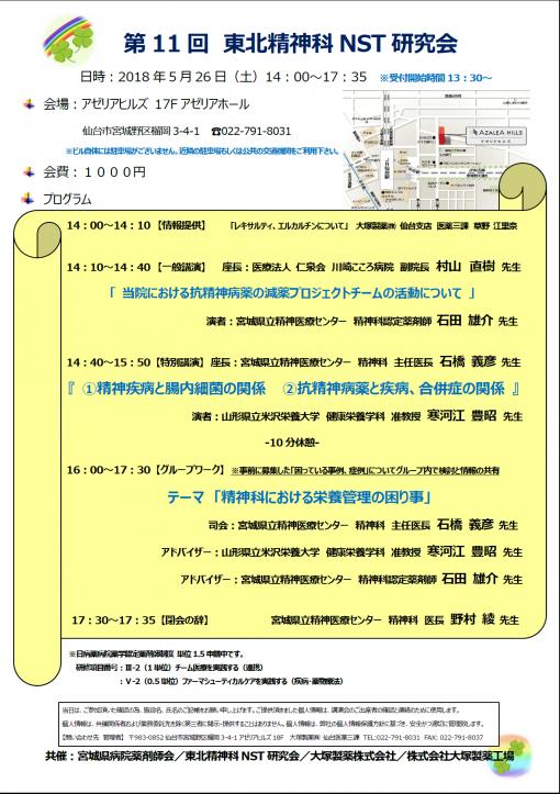 第11回 東北精神科NST研究会